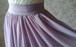 Women High Waisted Maxi Chiffon Skirt Summer Wedding Chiffon Skirts Many Colors image 7