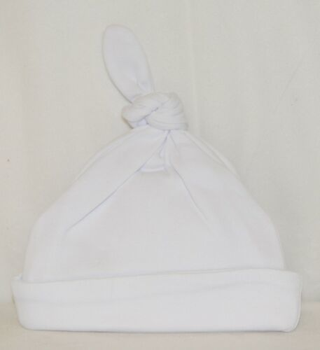 Blanks Boutique Infant Baby Beanie Knot Cap Hat One Size White