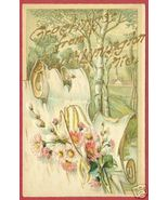 SOUTH LIMINGTON MAINE Greetings Floral Postcard Pretty - $6.50