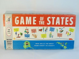 Game of the States 1960 Board Game Milton Bradley 100% Complete Excellent Plus @ - $29.70