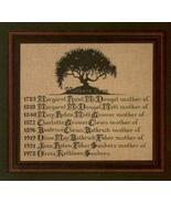 Mother's Tree cross stitch Lavendar & Lace Marilyn Leavitt-Imblum - $12.60
