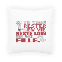 Rester En Vie Reste Lion French Pillow Cushion Cover v771p - $243,36 MXN+