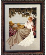 Nantucket Rose cross stitch Lavendar & Lace Marilyn Leavitt-Imblum - $10.80