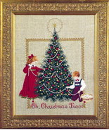Oh Christmas Tree cross stitch Lavendar & Lace Marilyn Leavitt-Imblum - $10.80