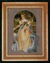 Queen Anne's Lace cross stitch Lavendar & Lace Marilyn Leavitt-Imblum - $12.60