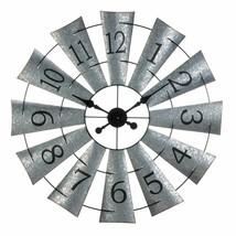 Galvanized Windmill Wall Clock - $122.64