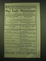 1902 John Lane the Bodley Head Ad - Bodley Head Spring Announcements - $14.99