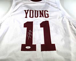TRAE YOUNG / AUTOGRAPHED OKLAHOMA SOONERS WHITE CUSTOM BASKETBALL JERSEY... - $143.50