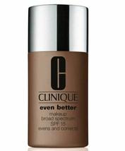 Clinique Even Better Broad Spectrum SPF15 Makeup Foundation Espresso 33 - $22.43