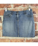 Ann Taylor Loft Denim Skirt Womens Size 8 Pockets Distressed  - $17.82