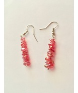 New Glass Bead Chip Dangle Hook Earrings, Gift For Her, Fashion Jewelry - $7.50