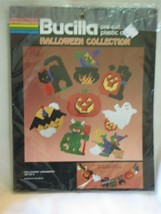 Bucilla Pre Cut Plastic Canvas Halloween Collection Ornaments set of 8 G... - $34.64