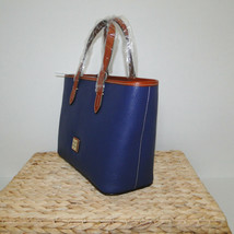 Dooney & Bourke Pebble Leather Brandy Satchel OCEAN BLUE image 2