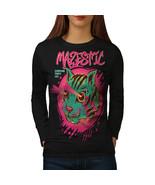 Shooting Laser Cool Cat Tee  Women Long Sleeve T-shirt - $14.99
