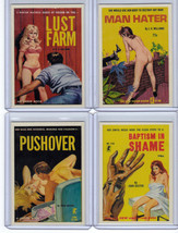 Lot of 4 promo card book marks GGA pulp fiction sleaze dime novels - $7.16