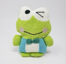 "5"" Sanrio Keroppi Winking Wink Green Frog Terry Cloth Stuffed Animal Plush Toy - $45.45"