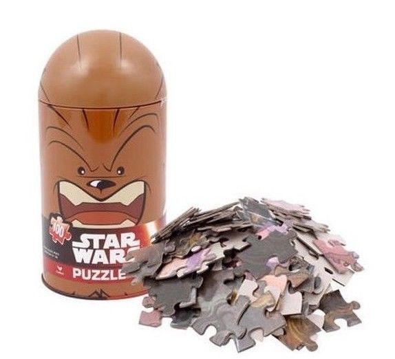 "Star Wars Chewbacca Puzzle 15"" x 11.25"" In Metal Bullet Shape Tin"