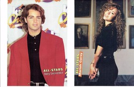 Joey Lawrence Mariah Carey teen magazine pinup clippings Red Suit