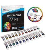 U.S. Art Supply Professional 24 Color Set of Watercolor Paint in 12ml Tu... - $19.99