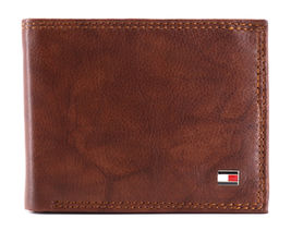 Tommy Hilfiger Men's Extra Capacity RFID Leather Traveler Wallet Tan 31TL240006 image 4