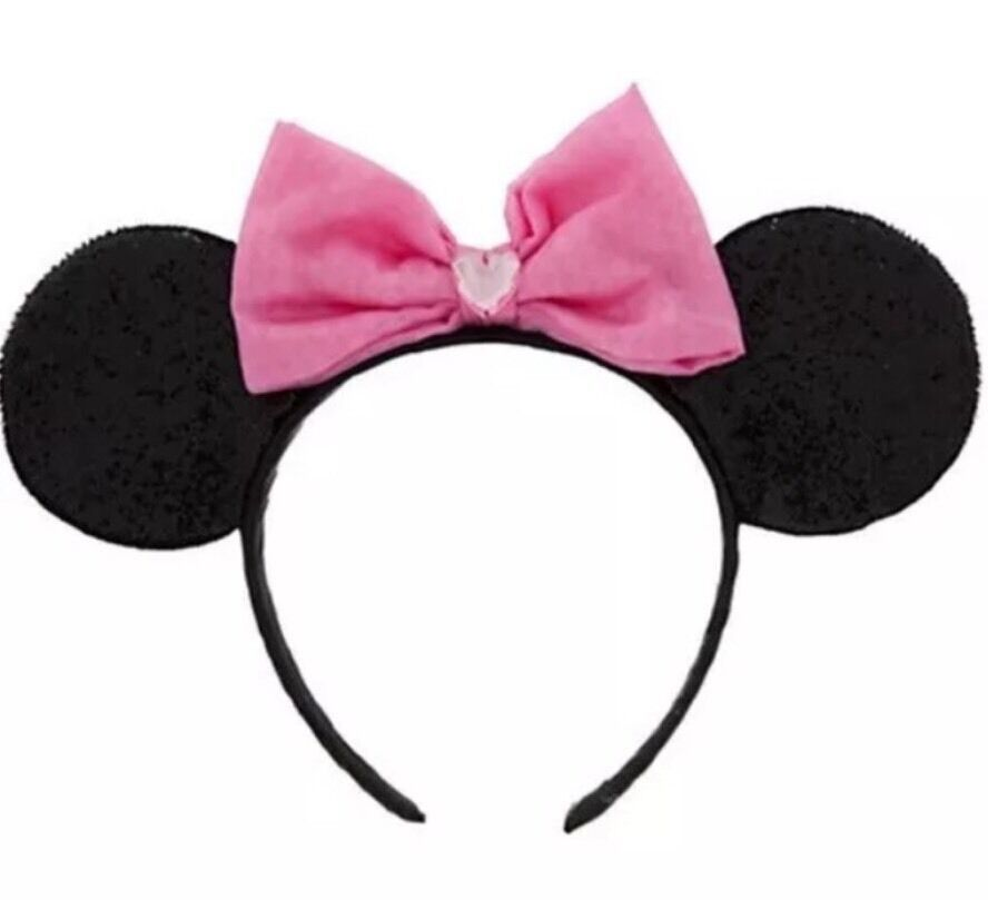 Disney Store Minnie Mouse Ears Head Band Costume  Pink Hat  Girls - $6.98