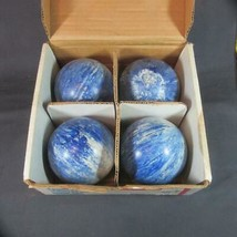 4 Vintage Used K&S Candlepin Bowling Balls in Box - $32.71