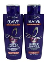 2 L'Oreal Elive Color Vibrancy Purple Shampoo Anti-Brassiness Neutralize... - $16.77