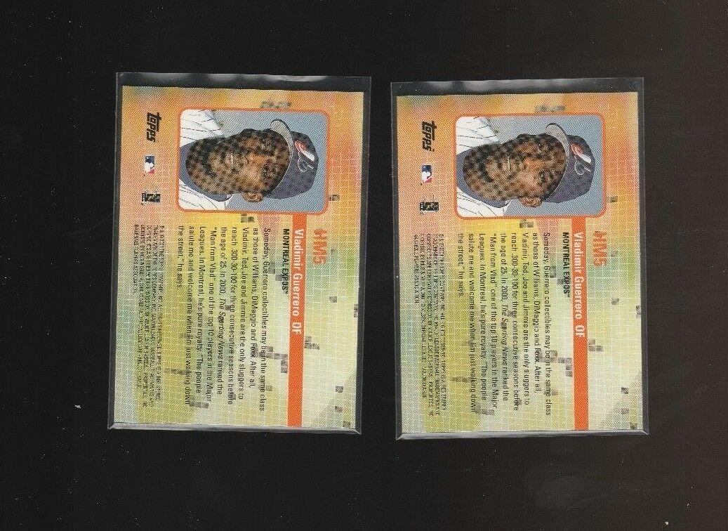 2002 Topps - Hobby Masters #HM5 Vladimir Guerrero Lot of 2