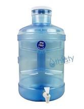 BPA Free 5 Gallon Water Bottle Faucet Dispenser Container Big Cap Jug Ca... - $29.98
