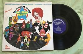 Ronald McDonald All-Star Party Sesame Street Chipmunks 1982 Children's L... - $9.74