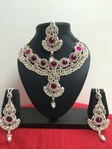 Indian Bollywood Bridal Fashion Jewelry Necklace Set - $34.99