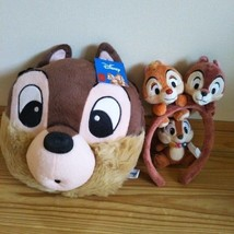 Disney Chip & Dale Lucky Set! Face Shoulder Bag & Headband & Key Holder - $68.31