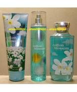 Cotton Blossom Bath Body Works Fragrance Mist Body Cream Shower Gel Full... - $30.00