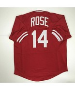 New PETE ROSE Cincinnati Red Custom Stitched Baseball Jersey Size Men's XL - $49.99