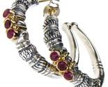 02.00.1012 gerochristo 1012 byzantine open hoop earrings rubies 1 thumb155 crop