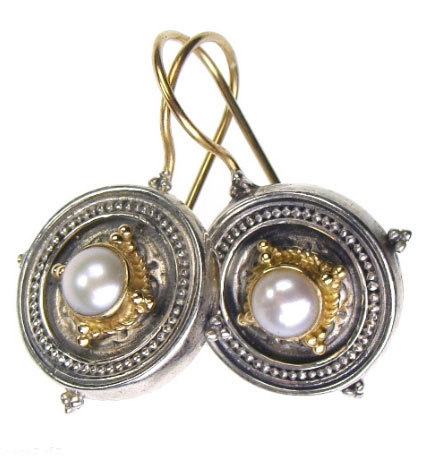 02001026 gerochristo 1026 silver gold byzantine medieval earrings 2