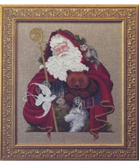 Santa Of The Forest cross stitch Lavendar & Lace Marilyn Leavitt-Imblum - $12.60