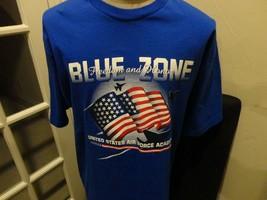 Vtg 90's Air Force Falcons Blue Zone Jansport NCAA Cotton TShirt Adult XL NICE - $30.68