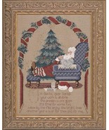 Secret Santa cross stitch Lavendar & Lace Marilyn Leavitt-Imblum - $14.40