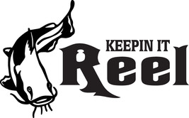 Keepin It Reel Fish Decal #Fh1/6  Catfish Bass, Trout Pole, Car Truck Auto Suv - $14.50