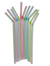 Foldable Straw Pipe, pack of 100 pcs colourful helpful for drinking liqu... - $17.75