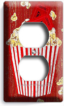 Pop Corn Tv Room Home Movie Theater Cinema Retro Rustic Outlet Wall Plates Decor - $8.99