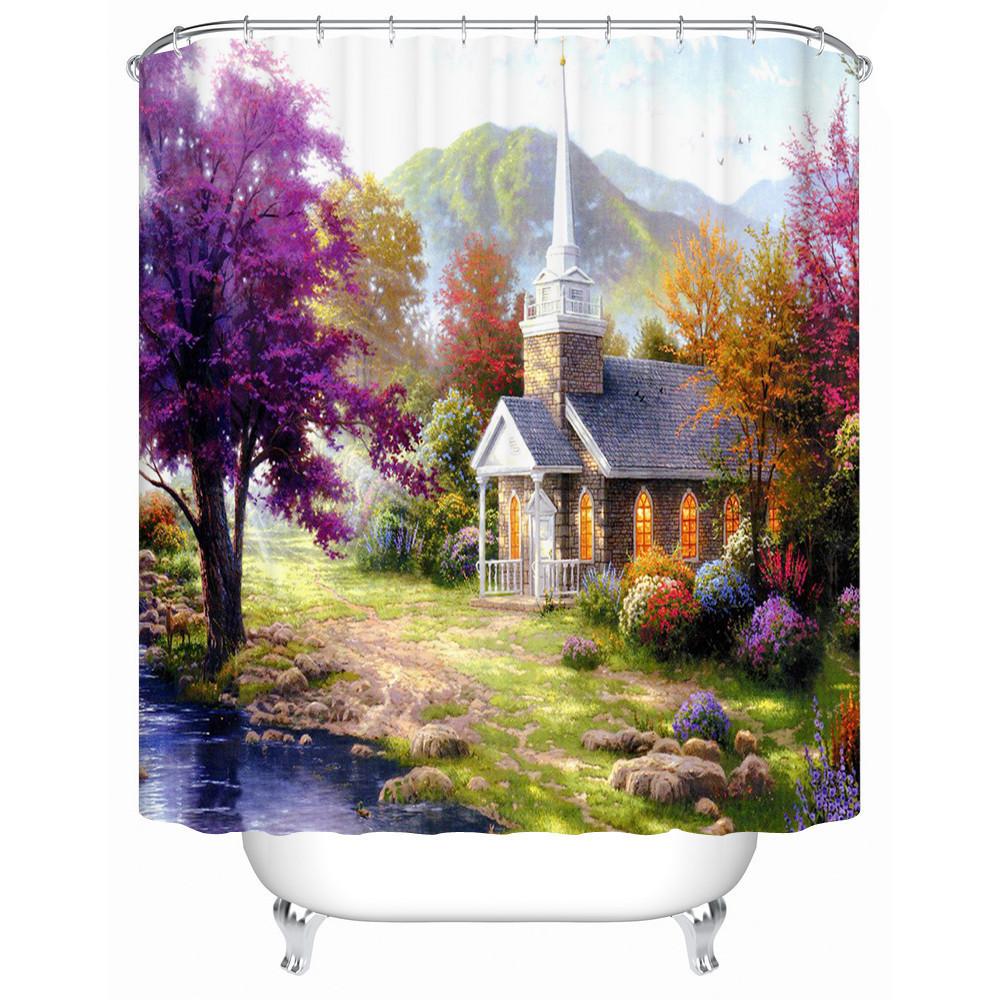 Environmentally Friendly and Practical European-style Bathroom Shower Curtain Ba
