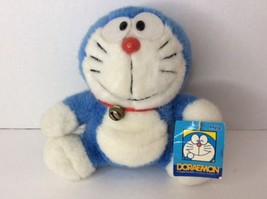 DORAEMON Plush Stuffed Toy Doll With Bell 7in Sanrio Japan Anime Mochi Authentic - $25.24