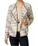 Style & Co. Petite Space-Dyed Boucle Tweed Draped Business Jacket NWT PM - $22.08
