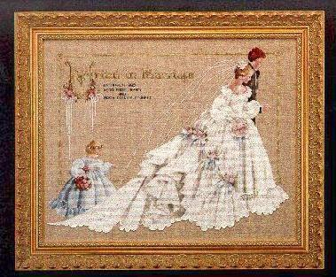 Primary image for The Wedding cross stitch Lavendar & Lace Marilyn Leavitt-Imblum