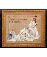 The Wedding cross stitch Lavendar & Lace Marilyn Leavitt-Imblum - $10.80