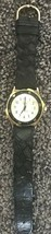 GUESS Indiglo Mens Watch Black Leather Wristband Vintage 1994 Needs Batt... - $39.59