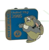 Authentic Disney WDW United Way 2005 Participant Thumper Bambi LE Pin 40858 - $9.89