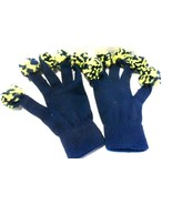 Gloved Pom Poms Blue/Gold One Size Fits All see Photos! - $4.37